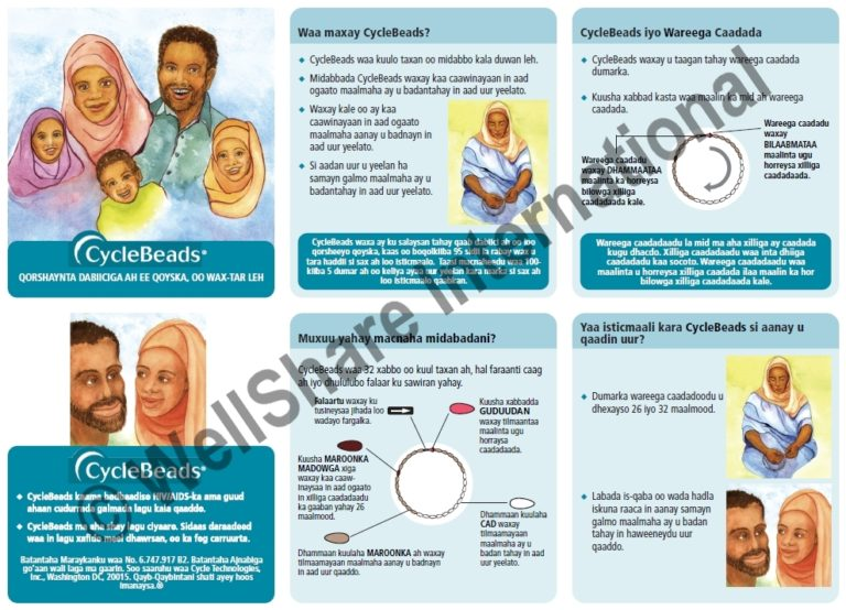 CycleBeads Instructional Insert - Somali - Downloadable
