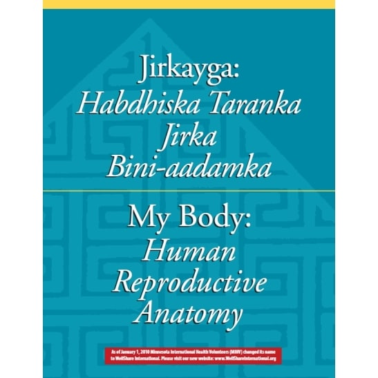 My Body: Human Reproductive Anatomy booklet - English and Somali - Downloadable