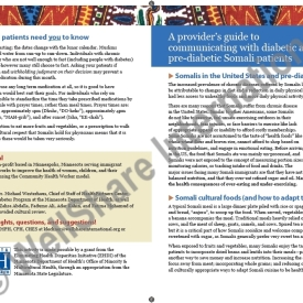 Provider's guide to communicating with diabetic and pre-diabetic Somali patients – English – Downloadable