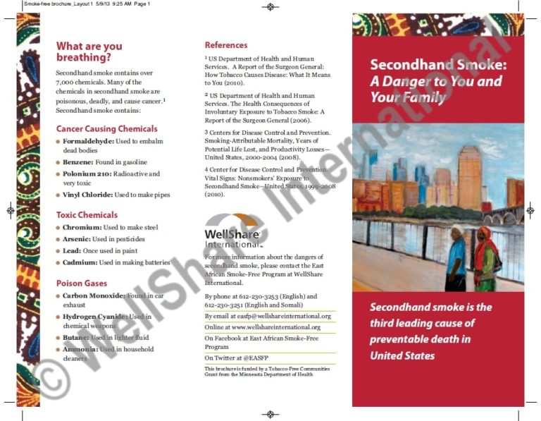 Risks of Secondhand Smoke Brochure - English - Downloadable