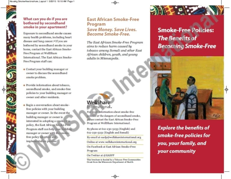 Smoke Free Policy Brochure - English