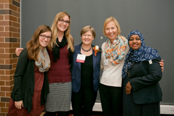 WellShare staff and board member at the Community Partners celebration.