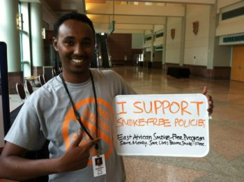 Abdi doing outreach