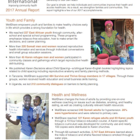 2017 WellShare International Annual Report
