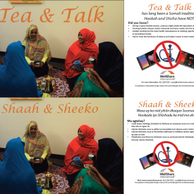Tea & Talk/Shaah & Sheeko - Anti-Shisha Postcards (Somali and English)