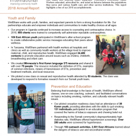 2018 WellShare International Annual Report