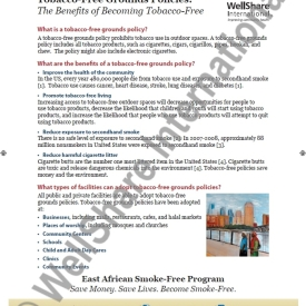 Tobacco Free Grounds Fact Sheet – English