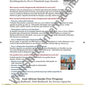 Tobacco Free Grounds Fact Sheet – Somali – Downloadable